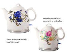 Ceramic Electric Kettle Peony Electric Ceramic Kettle 2-tone Ceramic Teapot