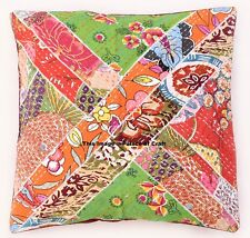 Indian Cotton Hand Kantha Patchwork Cushion Cover Sofa Pillow Case Home Decor