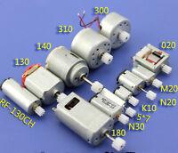 12Pcs 3/3.7/6V Mini 130 Micro DC Motor Gear Round Small Motor Toy Car DIY Model