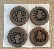"More details for set of 4 wheel castings for 31/2"" gauge juliet steam loco"