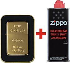 Benzinfeuerzeug 999 .9 FINEGOLD (farben) Sturmfeuerzeug + ZiPPO Benzin