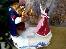 Beauty,Belle & Beast Musical Hand Glaze Schmid Turning Disney Figurine,New w/Tag