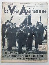 VIE AERIENNE 133 1938 USINE SNCAN POTEZ 63 662 MEAULTE AIR AFRIQUE WAKEFIELD