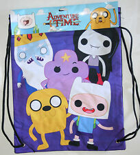 "ADVENTURE TIME FINN JAKE PURPLE CINCH BACK SACK BACKPACK 13"" X 17"" FREE SHIPPING"