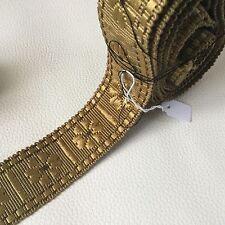 METRAGE GALON Ancien Coton Or 72 cm XIXè Costume Théâtre Uniforme Militaria