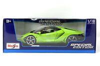 Lamborghini Centenario Green 1:18 Special Edition Diecast Model Car