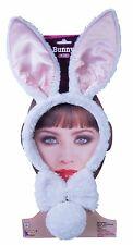 FURRY WHITE BUNNY RABBIT KIT Dress Up Ears Headband Bow Tie Tail Easter Animal
