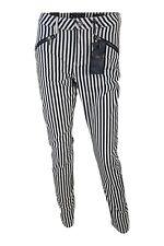 MAISON SCOTCH Black and White Striped Cotton Jeans (W 29)