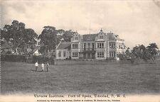 Port Of Spain Trinidad British West Indies~Victoria Institute~Waterman Postcard