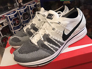 Nike Flyknit Trainer white black size 11.5 with receipt kanye west yeezy