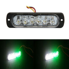 Super Bright Green & White 6-LED Car Flash Emergency Hazard Warning Strobe Light