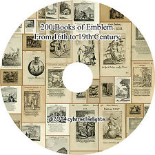 200 Emblem Books from 16th to 19th century Library of Emblem on one DVD