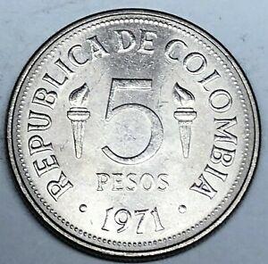 # C7112   COLUMBIA     COIN,     5  PESOS   1971  Unc.