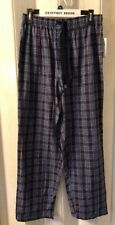 Geoffrey Beene Lounge Pajama Pants Bottoms Sleepwear Large Blue Plaid