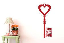 Home Sweet Home House Key Vinilo Pegatinas De Pared Adhesivo Decoración
