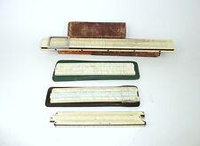 Kleine Sammlung Rechenschieber Faber Castell 1930er Jahre
