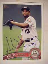 AUSTIN WATES signed RC ASTROS MARLINS 2011 Topps Pro Debut baseball card AUTO 84