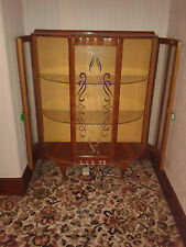 """Vintage """"Barget"""" Built Retro Bow Fronted China / Display Cabinet Shabby chic"""