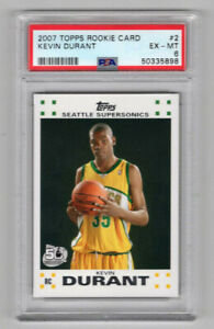 2007 Topps #2 Kevin Durant RC Rookie PSA 6 EX-MT 5898
