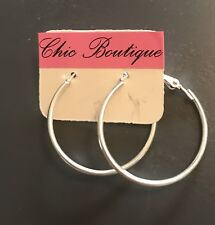 Earring Boho Festival Party Boutique Uk Silver Hoop 25mm Bling Luxury Fashion