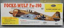 GUILLOWs FOCKE WULF Fw 190 balsa wood model kit German WWII airplane Luftwaffe