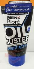 Biore Men s Non Scrub Facial Foam Face Wash Cleans Oil Buster Bright Action 100g