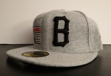 New listing Black Scale X New Era Flag B Gray Logo Mens Hat Fitted Hat Size 7 3/8 58.7 cm
