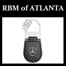 Genuine Mercedes Benz Carbon Fiber Key Ring Chain
