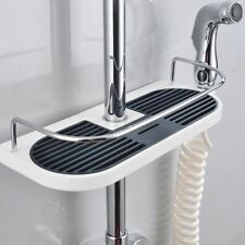 Shower Rack Storage Holder Bathroom Shelf Corner Wall Organizer Shampoo Mounted