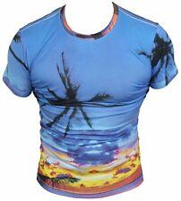 New Eleven Paris Mens T-Shirt Round Neck in Blue Colour Size S