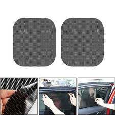 2x Auto Side Window Mesh Pellicola Parabrezza Net Paralume Adesivo Protezione UV