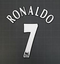 RONALDO #7 1997-2006 Player Size Premier League White Nameset Lextra
