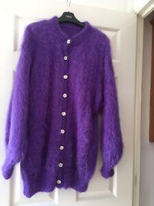 Handmade Mohair Cardigan Size L