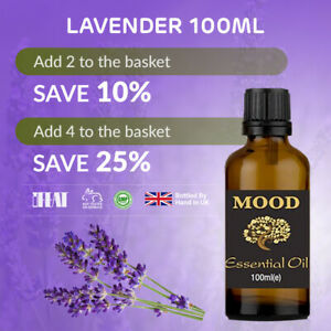 Lavender ESSENTIAL OIL Pure and Natural for Aromatherapy Home Fragrance 100ml