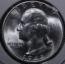 1948-S Washington Silver Quarter GEM BU AWSOME LUSTER ! 48S03