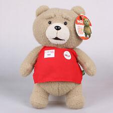 "Licensed 13"" 33Cm Ted Movie Teddy Bear Red Apron Plush Toys Soft Stuffed Doll"
