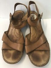 Born Tan Leather Sandals Size 10