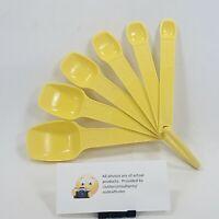 Tupperware Measuring Spoons Set of 6 Yellow