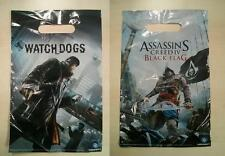 Assassins Creed IV Black Flag & Watch Dogs Bag Tüte Tragetasche Tasche - 5 Stück