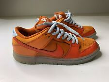 "Rare Men's Nike SB Dunk Low Gamma Orange ""Fire and Ice"" Size 8 304292-868"