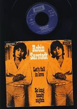 Robin Sarstedt - Let's fall in Love - So Long...........- 7 Inch Vinyl - HOLLAND