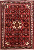Hamedan Wool Persian Hand-Knotted Rug 3x5 Geometric Oriental Red Foyer Rug NEW