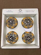 Casa Decor Drawer Knobs Ceramic Pulls Set Of 4 HAND CRAFTED HANDMADE NWT