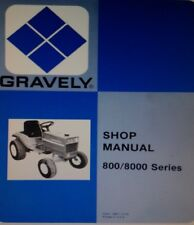 Gravely 800 8000 8177 817 812 810 816S Riding Lawn Garden Tractor Service Manual