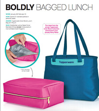 Tupperware Color Block Insulated Lunch Bag with Cooler Pouch Set Rare Award New