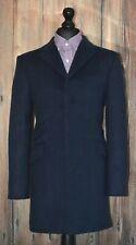 Mod Overcoat Navy 3/4 Length Coat Ticket Pocket 1960's, Ska,Skinhead Slim Fit
