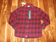 NWT Mens JACHS Black Red Plaid Heavy Flannel L/S Collared Shirt M Medium