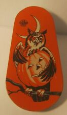 1960's US Metal Toy Mfg Company HALLOWEEN Tin Noise Maker EXCELLENT Condition NR