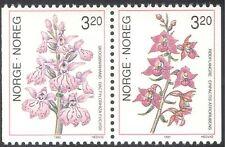 Norway 1990 Helleborine/Spotted Orchid/Flowers/Nature/Plants 2v bklt pr (n43100)