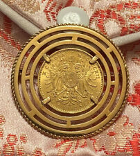 Unique Broach Pin 1912 Austrian 10 Corona Gold Coin With A Housing Of 18k YGOLD